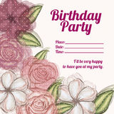 Roses  invitation birthday Royalty Free Stock Images