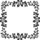 Roses. Isolated frame with roses - vector illustration Stock Photos