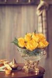 Roses jaunes Photographie stock libre de droits