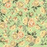 Roses jaunes sur le fond vert illustration stock