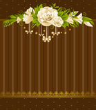 Roses with lace ornaments Stock Images