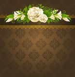Roses with lace ornaments Royalty Free Stock Photos