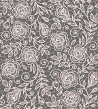 Roses lace seamless pattern. Royalty Free Stock Image