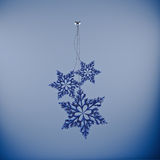 Snowflakes, Cristmas decoration Stock Photos