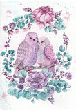 Roses, leaves and bird. Watercolor illustration over white backg Royalty Free Stock Image