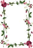 Roses and leaves floral frame Royalty Free Stock Images