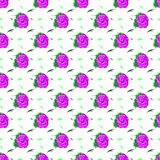 Roses and leaves on a light background seamless vector pattern Stock Photography