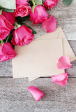 Roses with letter Royalty Free Stock Photo