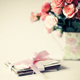 Roses and letters Royalty Free Stock Image