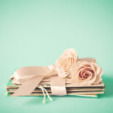 Roses and letters Stock Photography