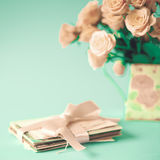 Roses and letters Royalty Free Stock Images
