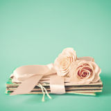 Roses and letters Royalty Free Stock Photos