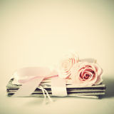 Roses and letters Stock Image