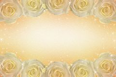 A frame of roses in golden tones stock images