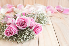 Roses for lover with copy space Royalty Free Stock Image