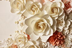 Roses made of paper Stock Photography