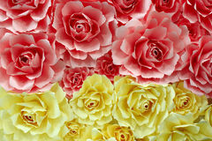 Roses made from colored paper Royalty Free Stock Photo