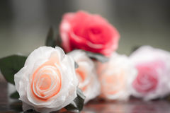 Roses made of fabric Stock Photo