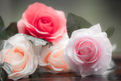 Roses made of fabric Royalty Free Stock Images