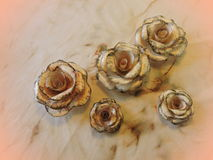 Roses made from old newspaper Royalty Free Stock Photography