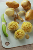 Roses made from a potato Stock Image