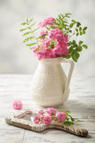 Roses On Mirror Stock Photos