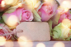 Roses for a mothers day message Stock Photo