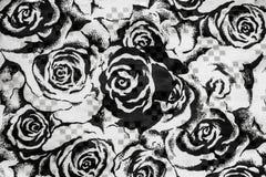 Roses noires et blanches Images libres de droits