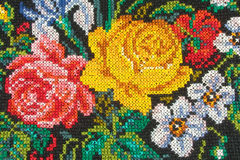 Roses On Fabric Stock Photography