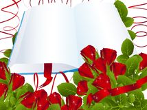 Roses and open book stock illustration