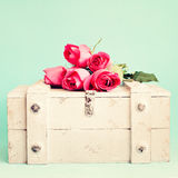 Roses Over A Chest Stock Photos