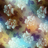 Roses and paisley on blurred background Royalty Free Stock Images