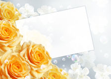 Roses and paper Royalty Free Stock Photo