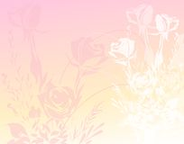 Roses Paper Background 3. Concept realized design into a dusty colored background full of roses stock illustration
