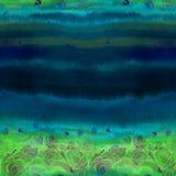 roses Papier peint abstrait avec des motifs floraux watercolor Configuration sans joint wallpaper Agencement de fleur décoratif illustration de vecteur