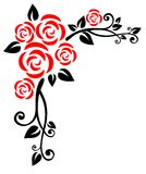 Roses pattern Stock Photography