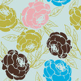 Roses pattern. Seamless background with roses, pattern Stock Images