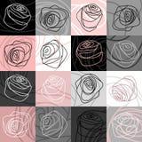 Roses pattern Stock Photos