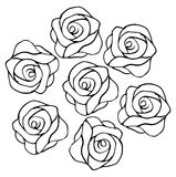 Roses pattern. Black and white plain Roses pattern Royalty Free Stock Image