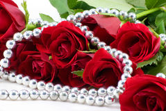 Roses and pearls Royalty Free Stock Photo