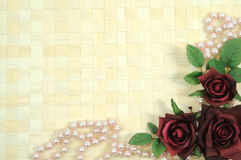 Roses and pearls Stock Photography
