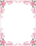 Roses and Pearls Border Stock Photography