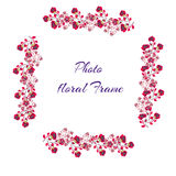 Roses photo frame, pink, cartoon style, vector. Roses photo frame, pink, cartoon style vector illustration Stock Image