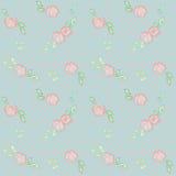Roses on polka dots Royalty Free Stock Image