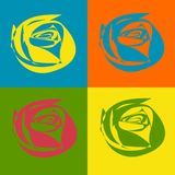 Roses,Pop art, vrctor vector illustration