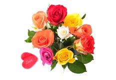 Roses pour la carte de jour de valentines images stock