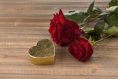 Roses pour la Saint-Valentin Photos stock