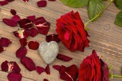 Roses pour la Saint-Valentin Photo stock