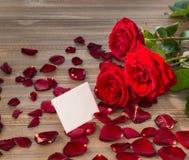 Roses pour le jour de valentine et le jour de mère Photo libre de droits