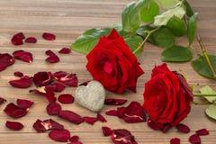 Roses pour le jour de valentine et le jour de mère Photo stock